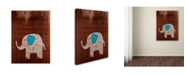 "Trademark Global Nicole Dietz 'Elephant on Wood' Canvas Art - 32"" x 24"""