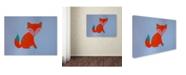 """Trademark Global Nicole Dietz 'Orange Fox' Canvas Art - 35"""" x 47"""""""