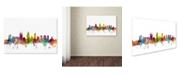 "Trademark Global Michael Tompsett 'Perth Australia Skyline' Canvas Art - 22"" x 32"""
