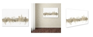 "Trademark Global Michael Tompsett 'London England Skyline Sheet Music' Canvas Art - 22"" x 32"""