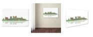 "Trademark Global Marlene Watson 'Birmingham Alabama Skyline III' Canvas Art - 22"" x 32"""