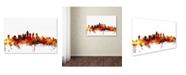 "Trademark Global Michael Tompsett 'Philadelphia Pennsylvania Skyline III' Canvas Art - 22"" x 32"""
