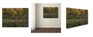 "Trademark Global Kurt Shaffer 'Girl in Red Sees Her Reflection' Canvas Art - 35"" x 47"""
