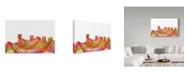 "Trademark Global Marlene Watson 'Phoenix Arizona Skyline Swirl' Canvas Art - 12"" x 19"""