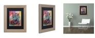 """Trademark Global Richard Wallich 'Art Boots' Matted Framed Art - 11"""" x 14"""""""