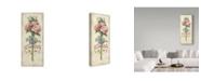 """Trademark Global Lisa Audit 'Rose Bouquet 2' Canvas Art - 10"""" x 24"""""""