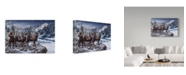 "Trademark Global Jeff Tift 'Late Season Big Horns' Canvas Art - 12"" x 19"""