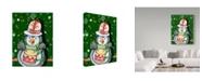 """Trademark Global Valarie Wade 'Penguin Drum' Canvas Art - 14"""" x 19"""""""