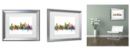 """Trademark Global Michael Tompsett 'Chicago Illinois Skyline' Matted Framed Art - 11"""" x 14"""""""