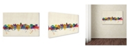 "Trademark Global Michael Tompsett 'Madison Watercolor Skyline' Canvas Art - 12"" x 19"""