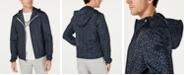 Michael Kors Men's Tile-Print Hooded Windbreaker