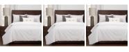 Revolution Plus Everlast White Stain Resistant 6 Piece Cal King High End Duvet Set