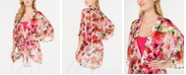 INC International Concepts I.N.C. Painterly Floral-Print Kimono, Created for Macy's