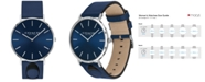 COACH Women's Charles Blue Leather Strap Watch 35mm, Created for Macy's