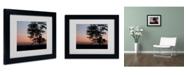 "Trademark Global Monica Fleet 'Soothing Symmetry' Matted Framed Art - 14"" x 11"""