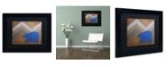 """Trademark Global Nicole Dietz 'Blue Polar Bear' Matted Framed Art - 11"""" x 14"""""""