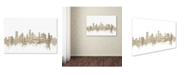 "Trademark Global Michael Tompsett 'Houston Skyline Sheet Music II' Canvas Art - 12"" x 19"""