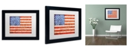 "Trademark Global Michelle Calkins 'American States' Matted Framed Art - 14"" x 11"""