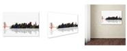 """Trademark Global Marlene Watson 'San Francisco California Skyline' Canvas Art - 12"""" x 19"""""""