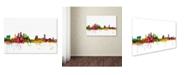 "Trademark Global Michael Tompsett 'Tampa Florida Skyline' Canvas Art - 12"" x 19"""