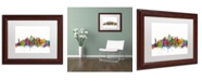 """Trademark Global Michael Tompsett 'New York City Skyline' Matted Framed Art - 11"""" x 14"""""""