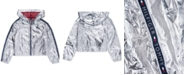 Tommy Hilfiger Big Girls Hooded Metallic Jacket