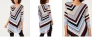 Alfani Petite Chevron Striped Tunic, Created for Macy's