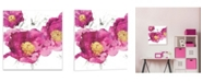 "Artissimo Designs Pink Bloom I Printed Acrylic Canvas Art - 18.5"" W x 18.5"" H x 0.75"" D"
