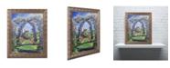 "Trademark Global David Lloyd Glover 'English Rose Arbor' Ornate Framed Art - 16"" x 20"""