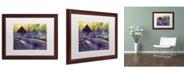 "Trademark Global David Lloyd Glover 'Blue Garden Impression' Matted Framed Art - 16"" x 20"""