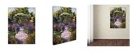 "Trademark Global David Lloyd Glover 'Two Blue Garden Chairs' Canvas Art - 18"" x 24"""