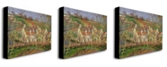 "Trademark Global Camille Pissarro 'The Red Roofs, 1877' Canvas Art - 47"" x 35"""