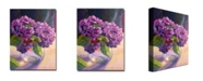 "Trademark Global David Lloyd Glover 'Hydrangea Glass Bowl' Canvas Art - 32"" x 24"""