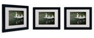 """Trademark Global Claude Monet 'The Boat at Giverny' Matted Framed Art - 14"""" x 11"""""""