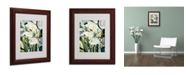 """Trademark Global Catherine Abel 'Cubist Lilies 2002' Matted Framed Art - 14"""" x 11"""""""