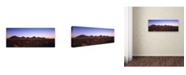 "Trademark Global David Evans 'Kata Tjuta Sunrise' Canvas Art - 24"" x 8"""