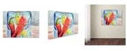 "Trademark Global Jennifer Redstreake 'Ball Jar with 3 Peppers' Canvas Art - 14"" x 19"""