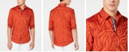 INC International Concepts I.N.C. Men's Jacquard Animal Print Shirt