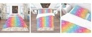Design Art Designart 'Ethnic Floral Pattern' Bohemian and Eclectic Duvet Cover Set - Queen