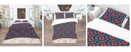 Design Art Designart 'Tribal Abstract Pattern' Bohemian and Eclectic Duvet Cover Set - King