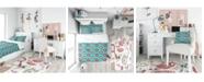 Design Art Designart 'Lips Pattern In Retro Pop Art Style' Modern Teen Duvet Cover Set - King