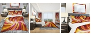 Design Art Designart 'Warm Rainbow Abstract' Modern and Contemporary Duvet Cover Set - Queen