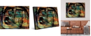 "Creative Gallery Tangerine Scrawl Abstract Portrait Metal Wall Art Print - 16"" x 20"""
