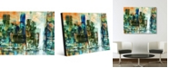 """Creative Gallery of Montreal Abstract Cityscape Portrait Metal Wall Art Print - 16"""" x 20"""""""