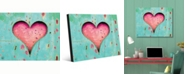 "Creative Gallery Timeless Rustic Heart Portrait Metal Wall Art Print - 24"" x 36"""