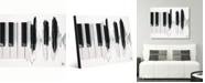 "Creative Gallery Piano Waves Watercolor Portrait Metal Wall Art Print - 16"" x 20"""