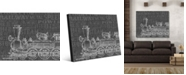 "Creative Gallery Rustic Train Words Portrait Metal Wall Art Print - 16"" x 20"""