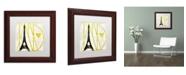 "Trademark Global Color Bakery 'I Love Paris' Matted Framed Art - 11"" x 11"""
