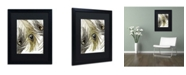 "Trademark Global Color Bakery 'Feather Fashion I' Matted Framed Art - 16"" x 20"""