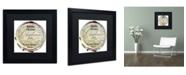 "Trademark Global Color Bakery 'Paris in Frames 1' Matted Framed Art - 16"" x 16"""